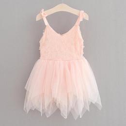 $enCountryForm.capitalKeyWord Australia - Lace Dress Baby Girl 3D Flower Dance Dresses Kids Girls Suspender Tutu Dresses Infant Princess Vest Dress 2017 Children Boutique Clothes