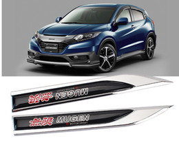 mugen stickers Australia - 2Pcs MUGEN sport motors blade decal landmark 3D Logo Emblems Badge car metal stickers