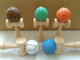 Wood toys japan online shopping - 200pcs cm jade sword strings professional japan japanese toy crack KENDAMA ball Leisure Sports wooden game toy