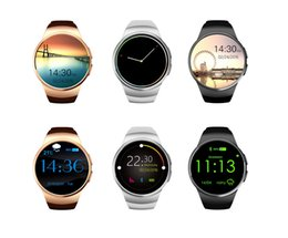 Smart Watch Android Sync Canada - KW18 Bluetooth Smart Watch GSM Phone Heart Rate with SIM Card WristWatch for iPhone Samsung HTC Huawei LG Xiaomi Android Smartphones Sync