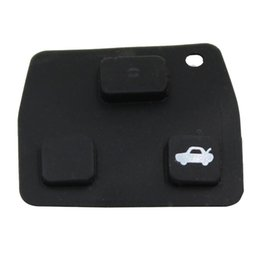 Chinese  3 Car Remote Entry Key Fob Black Replacement Rubber Pads For Toyota New manufacturers