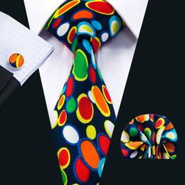 mens ties weddings 2019 - Polka Dot Mens Tie Sets Classic Colorful Cotton Neckwear Tie Sets for Men Tie Hanky Cufflinks Sets Formal Business Weddi