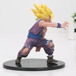Free Goku Figures UK - 12cm Dragon Ball Z Toy Dramatic Showcase Son Goku Gohan PVC Figures Model Toys Free Shipping