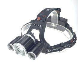 Headlight Focusing Canada - Headlight Adjust Focus HeadLamp 8000 Lumen LED Headlight XM-L T6R5 Headlamp Lamp Light +2X18650 Battery+ AC Car Charger
