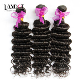 18 inch wavy remy hair online shopping - Peruvian Deep Wave Curly Virgin Hair Weave Bundles Unprocessed Peruvian Deep Wavy Curly Remy Human Hair Extensions Natural Color