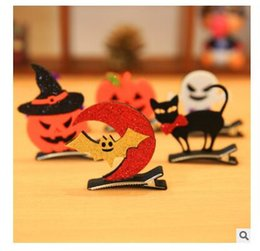 Barato Mini Clipes De Cabelo Para Crianças-Halloween Kids Hair Clip Kids Children Party Cosplay Decor Headwear Mini Pumpkin Children Hair Accessories DHL Frete Grátis
