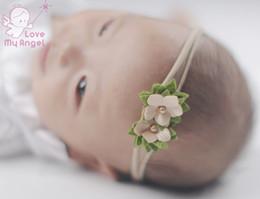 New Arrival 24pcs set Newborn headband skinny soft nylon headband satin  chiffon flower baby girl headband Baby Hair Accessories 04ab21560ac