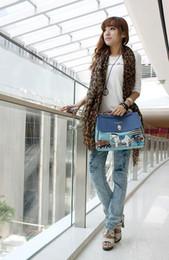 Blue handBag horses online shopping - 2017 New fashion Cartoon lady bean pole horse bag Women s lady shoulder bag handbag blue Totes beige