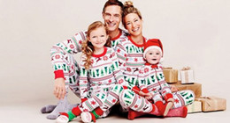 Baby Girl Summer Suits Canada - hot fashion baby suits Children Kids Boy Girl Xmas Clothes sets long sleeve tshirt +pants Sleepwear christmas Nightwear Pajamas top Set 2-7T