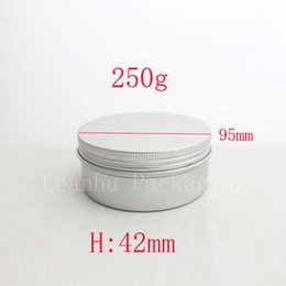 Round Tins Lids Canada - 250g empty aluminum metal tin cans with lids ,round aluminum containers ,empty cosmetic containers,metal cream container box