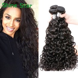 Wholesale 7A Water Wave Virgin Hair Remy Weaves Brazilian Virgin Hair Natural Color Cambodian Malaysian Indian Peruvian Human Hair Weft Bella Products