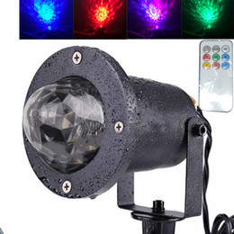 Usa Decorations NZ - Water Wave RGB LED Stage Lighting Ocean Wave Projector Light 7 Color with Remote Control for KTV Party Wedding Club Bar Decoration