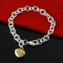 $enCountryForm.capitalKeyWord Canada - 5PCS Lot Free Shipping Factory direct 925 Sterling Silver lobster Xiao Bu Gold Bracelet Silver Jewelry charm bracelet mens bracelet
