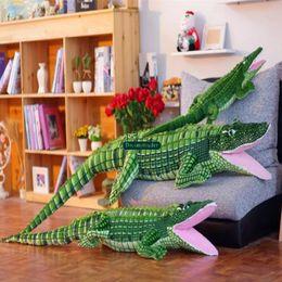$enCountryForm.capitalKeyWord Australia - Dorimytrader Pop Giant Stuffed Animal Crocodile Plush Toy Soft Big Realistic Alligator Animals Doll Gift for Children DY61871