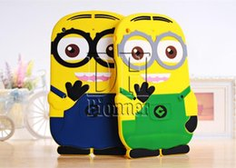 ipad mini 3d silicone case Canada - 3D Silicone Cute Minions Despicable Me2 Case Soft Cartoon Back Cover for Ipad mini 2 3 4 5 air DHL 100Pcs