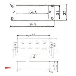 Chinese  Chrome Mini Humbucker Pickups Bridge Neck Set for Electric Guitar 4-Strings manufacturers