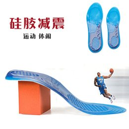 Gel Sporting Shoes NZ - Male and female general sports shoe pad health shock absorption air cushion silica gel elastic thickening super soft reduced pain military t