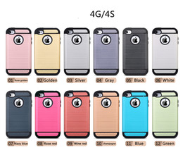 Cell Phone Cases For Cheap NZ - 2016 New Products TPU And PC Shockproof 4 Corners Protect Cheap Cell Phone Case For iPhone 4 4s