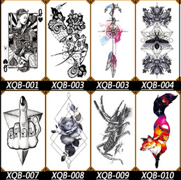 Hot Big Angel Wing Tattoo Sleeve Body Back Art temporaire tatouage autocollant Étanche Totem croquis dragon noir