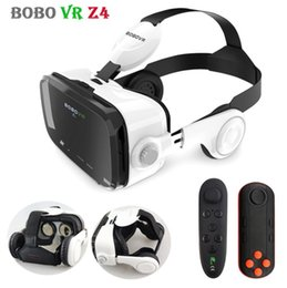 Original Z4 Leather 3D Cardboard Helmet Virtual Reality VR Glasses Headset Stereo Box BOBO VR for 4-6' Mobile Phone from free google cardboard manufacturers