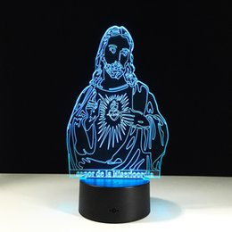The God Lord 3D Optical Illusion Lamp Night Light DC 5V USB AA Battery  Wholesale Dropshipping Free Shipping Retail Box