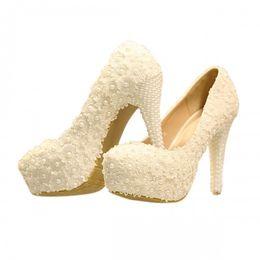$enCountryForm.capitalKeyWord UK - 2016 Wedding Bridal Shoes Lace Applique Sexy Pearls Bridal Accessories Ivory Fashion Elegant Womens Pumps Bridal Accessories