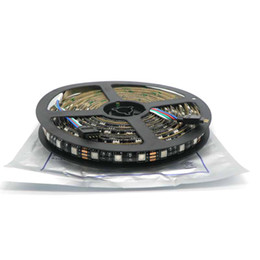 pcb strip board NZ - 5M Roll Black PCB LED Strip 5050,DC12V,Black PCB Board,IP65 Waterproof,60LED m,5m 300LED,RGB Free Ship