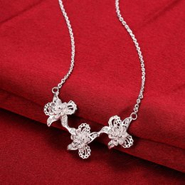 $enCountryForm.capitalKeyWord NZ - Beautiful cherry pendants charm beaded Necklaces chokers chains 925 pure silver n755 gifts Christmas Halloween 2016 New Jewelry