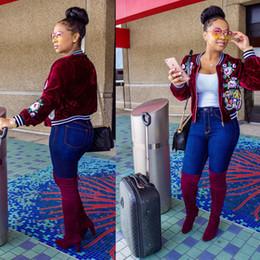 $enCountryForm.capitalKeyWord NZ - Women's Clothing Women tiger rose flowers embroidery Decals velvet tops short jacket Women's Outerwear & Coats