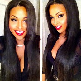peruvian natural wave half wig NZ - 8A grade unprocessed lace front wig glueless silky straight human hair full lace wig for black women brazilian human hair wig