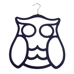 $enCountryForm.capitalKeyWord NZ - New Style 2016 Owl Velvet Accesories Hangers for Sarf Tie Belts Cables For Closet indoor Home Store Hotel