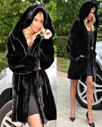 Barato Revestimento De Pele De Faux Quente E Vintage-90s Vintage Warm Mid Length Black Faux Fur Coat com capa Warm Winter Clothing Womens Size Medium