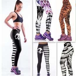 Discount yoga pants models - Explosion models Sexy Hot Women Digital printing tiger leopard skull outdoor leisure wild tide was thin Slim pants sport