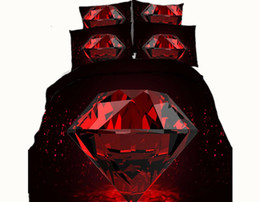 romantic king size bedding sets UK - Romantic Red Diamond 3D Printed Bedding Sets Twin Full Queen King Size Bedclothes Duvet Cover Pillow Shams Comforter Adult Valentine Wedding