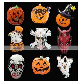 hot sale halloween decorations flash badge light emitting toys wholesale flash pumpkin badges halloween accessories 29 - Discount Halloween Decorations