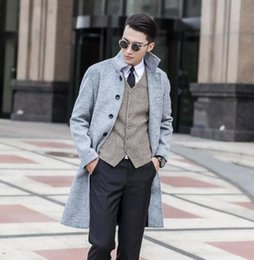 Discount Mens Wool Single Short Coat | 2017 Mens Wool Single Short ...