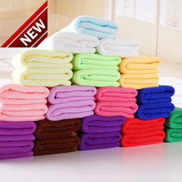 Wholesale car Wash drying toWels online shopping - 2017 High Quality Home Garden Large Absorbing Microfiber Kitchen Cloths Auto Car Dry Cleaning Towels Wash