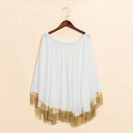 $enCountryForm.capitalKeyWord Canada - Summer Women Blouses Womens Tops Batwing Blouse Kimono Loose Slash Neck Beach Cover Up Blusas Mujer Camisas Tassels Shirts