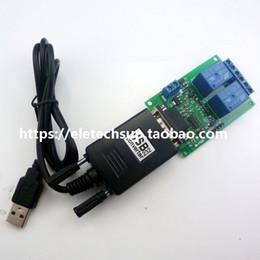 venda por atacado DC 9 V 12 V 2Ch RS232 Interruptor de Controle de Relé USB para RS232 DB9 PC UART Porta Serial para Casa Inteligente