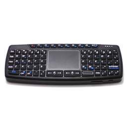 mini qwerty keyboard for laptop Canada - Hot selling K168 Mini Qwerty RF2.4GHz Wireless Mini Keyboard with Touch Pad & US Layout For Tablet PC & Laptop & Android TV BOX