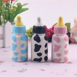 $enCountryForm.capitalKeyWord NZ - NEW! Kawaii rare squishy mini cow bottle colorful 10CM Phone Straps bag charms slow rising squeeze toy squishy kids kitchen
