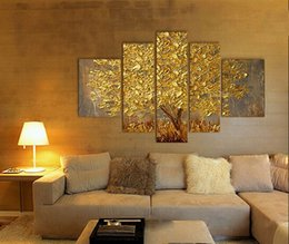 Discount Golden Tree Canvas  Golden Tree Canvas On Sale At - Golden living room