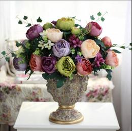 $enCountryForm.capitalKeyWord Canada - Silk flowers wholesale Europeanism artificial noble peony flower Decorative Flowers 52cm length with six big flowers silk handmade flower