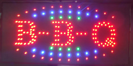 Wholesale neon bbq sign online – design New arriving super brightly customized led open sign BBQ neon eye catching shop slogans X19 inch