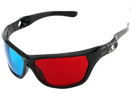 Tv Frame Plastic UK - Hot sale Red Blue Plasma Plastic 3D Glasses TV Movie Dimensional Anaglyph Framed 3D Vision Glasses