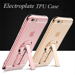 Discount thin edges - For iphone7 Samsung S7 Case 360 Degree Rotation Kickstand Case Soft TPU Ultra -thin Case Electroplate Edge Case For Ipho