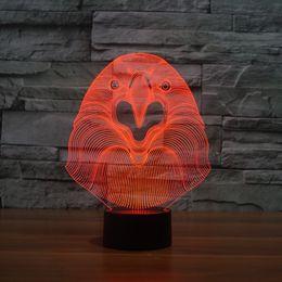 $enCountryForm.capitalKeyWord Canada - 2017 Cat Owl 3D Owl Optical Lamp Night Light 10 LEDs Night Light Battery DC 5V Colorful 3D Lamp