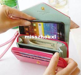 $enCountryForm.capitalKeyWord NZ - 165PCS Lot 7 Color PU Leather Crown Smart Pouch mobile phone case mobile phone bag card case pu wallet