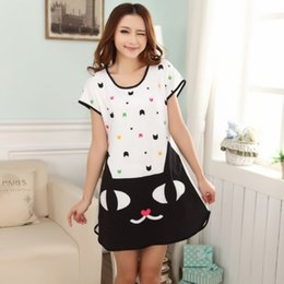 25bdb42982da online shopping Summer Women Nightwear Short Sleeve Dress Sleepwear Modal  Multi Pattern Short Sleep Cute Cartoon