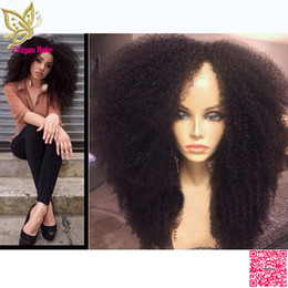 Discount upart human hair wig curly - 180 High Density Afro Kinky Curly U Part Human Hair Wigs Brazilian Human Hair Upart Wig Curly Middle Part For Black Wome